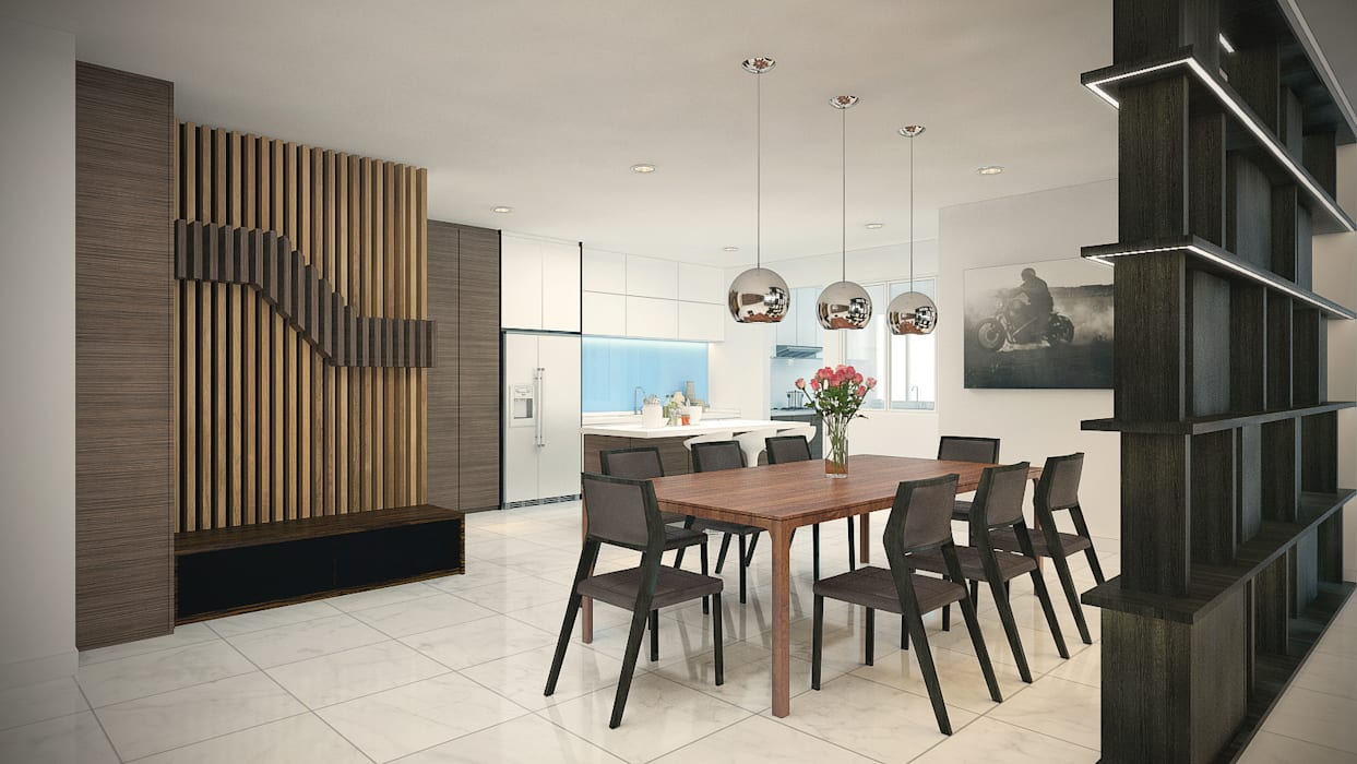 homify Tropical style dining room
