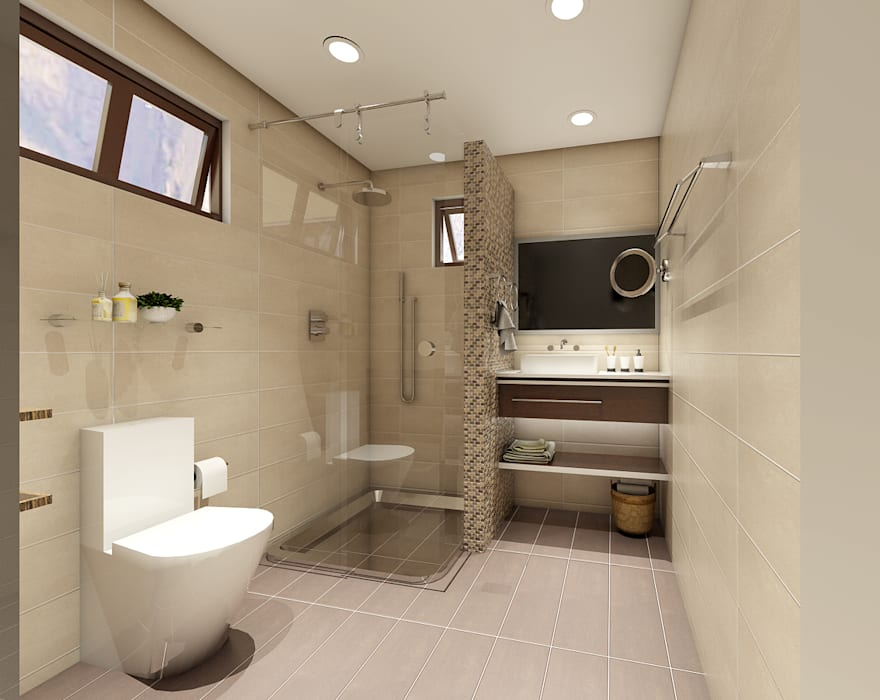 Renovation and Expansion - Bathroom:  Bathroom by Architecture Creates Your Environment Design Studio