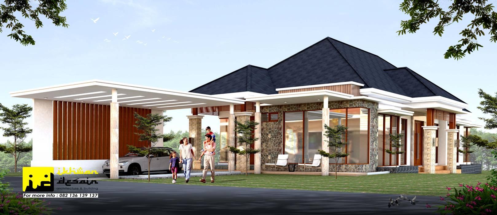 Rumah Modern Tropis Oleh Ikhwan desain Tropis Batu