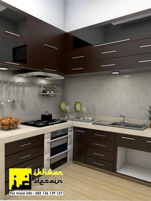 Desain Interior Ikhwan desain Unit dapur Batu Bata Beige