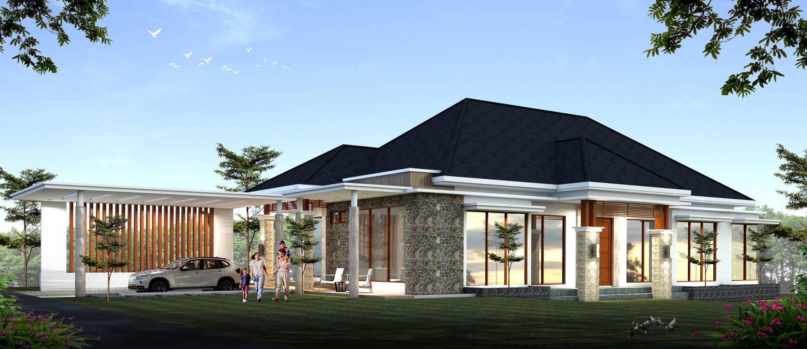 Rumah konsep alam:  Rumah tinggal  by Ikhwan desain