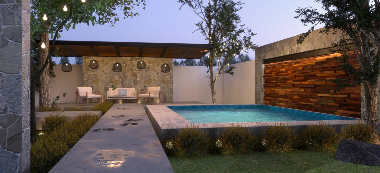 Alberca Y Terraza Albercas Minimalistas De Jc Arquitectos