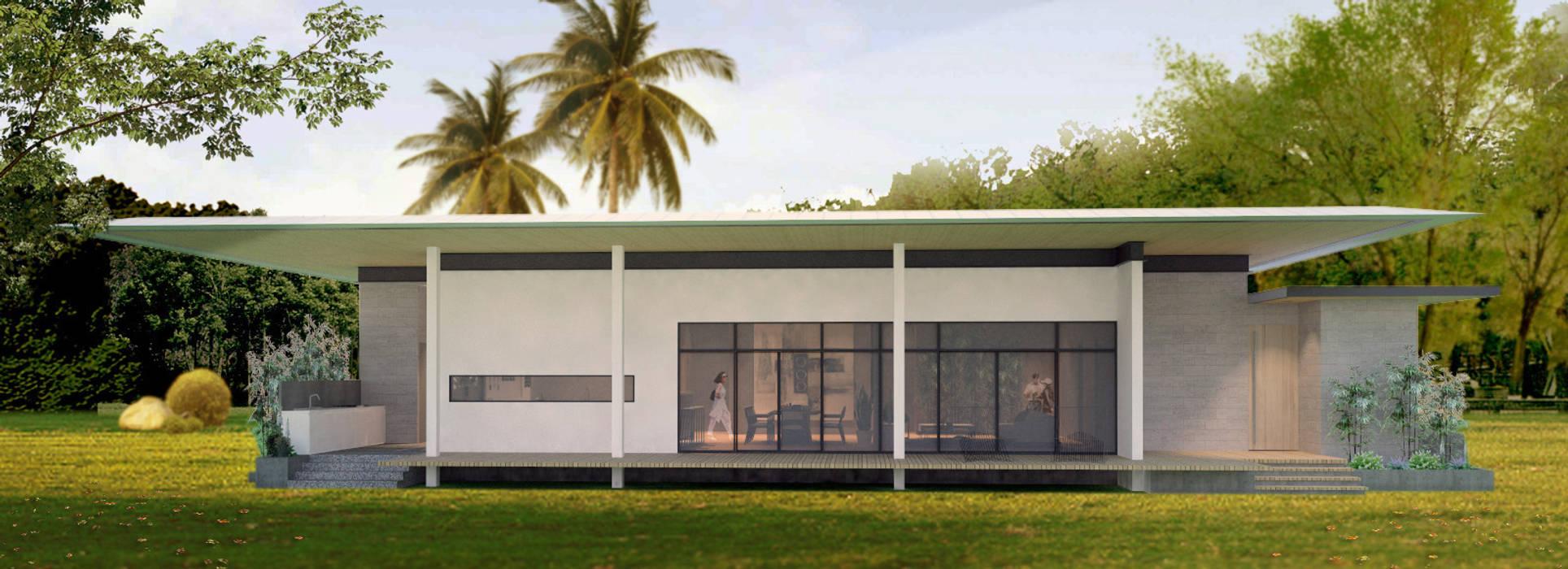 Pamana House Modern home by Plus Zero Two Design Studio Modern