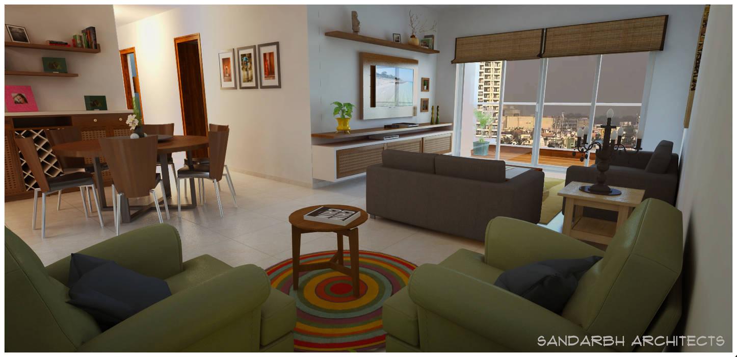 Moderne Wohnzimmer von Sandarbh Design Studio Modern