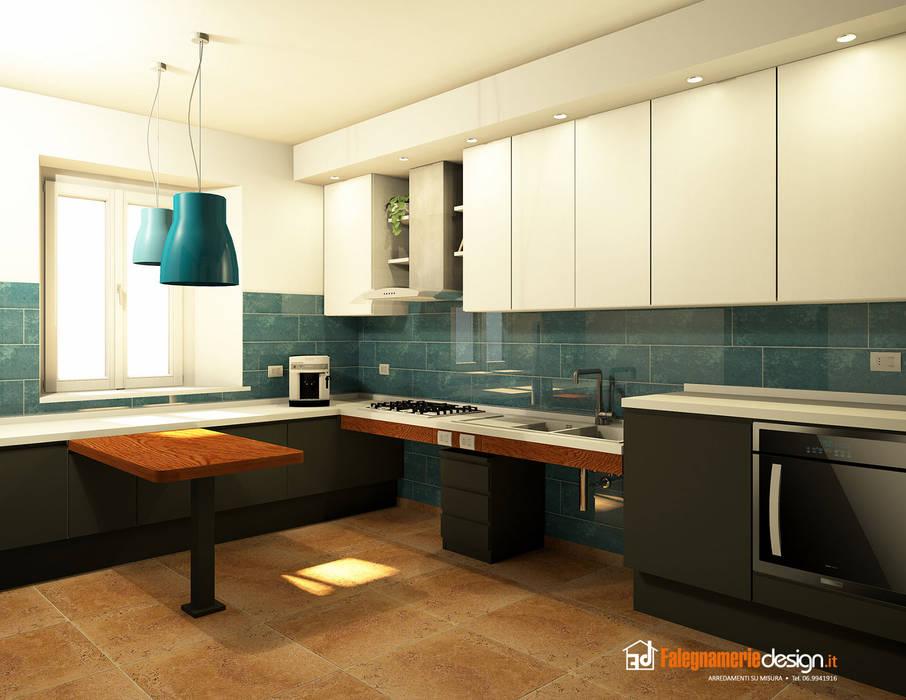 Cucina per disabili su misura: cucina in stile di falegnamerie ...