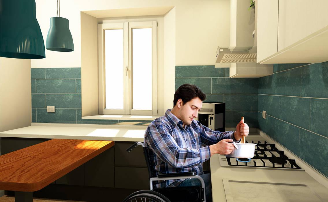Altezza cucina per disabili: Cucina in stile in stile Moderno di Falegnamerie Design