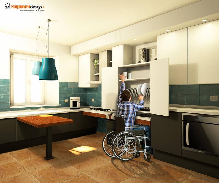 Cucine per disabili: il su misura modellato di falegnamerie ...