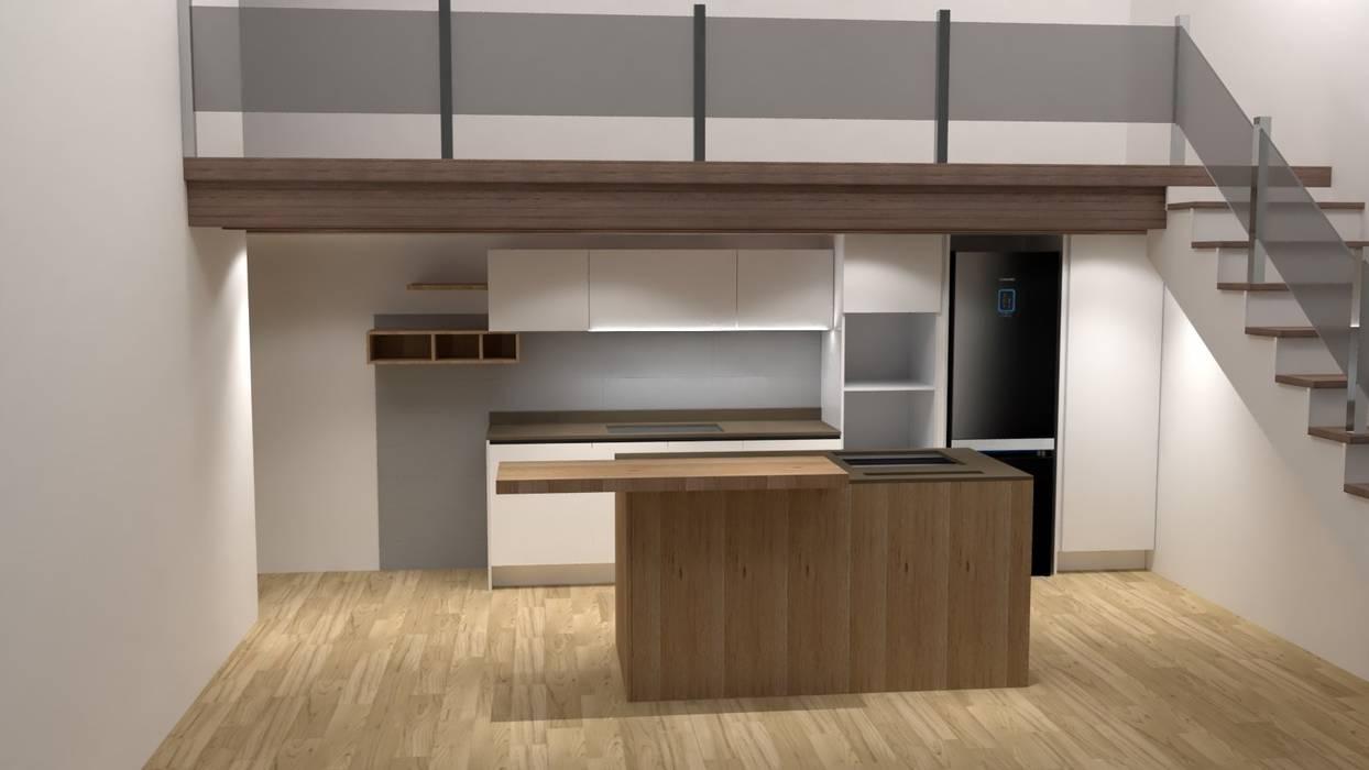 Cucina sotto soppalco: cucina in stile di g&s interior design, | homify