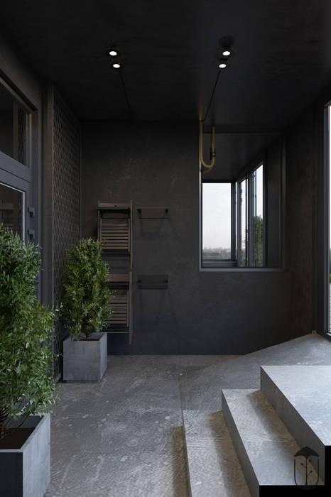 Pasillos, vestíbulos y escaleras industriales de U-Style design studio Industrial