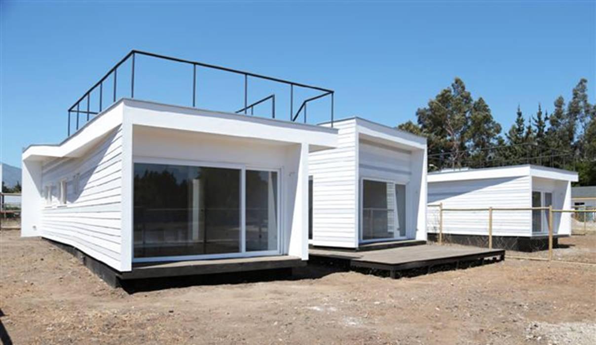 Fachada Casas de estilo mediterráneo de homify Mediterráneo Tableros de virutas orientadas