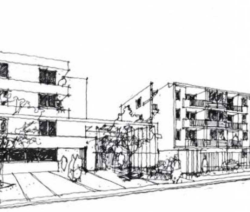 Condominio La Reina: Estudios y biblioteca de estilo  por CAF Cubicaciones