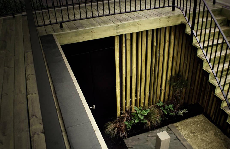 Restaurant Algarrobo: Jardines de estilo  por m2 estudio arquitectos - Santiago,
