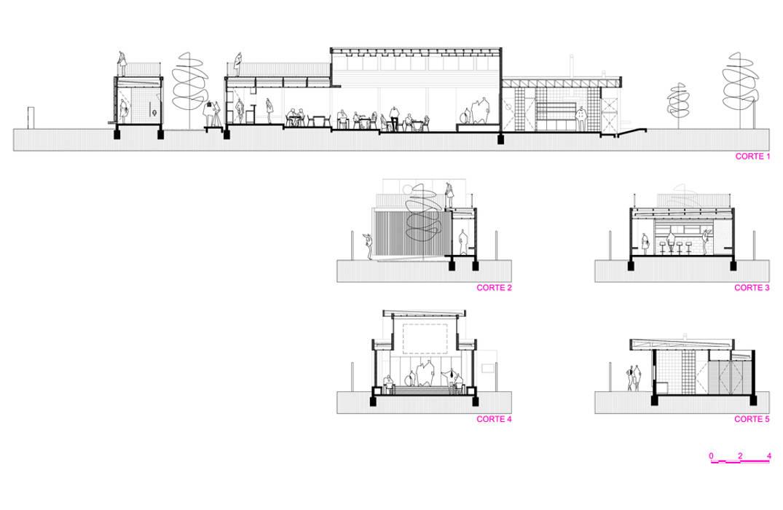 Restaurant Algarrobo:  de estilo  por m2 estudio arquitectos - Santiago,