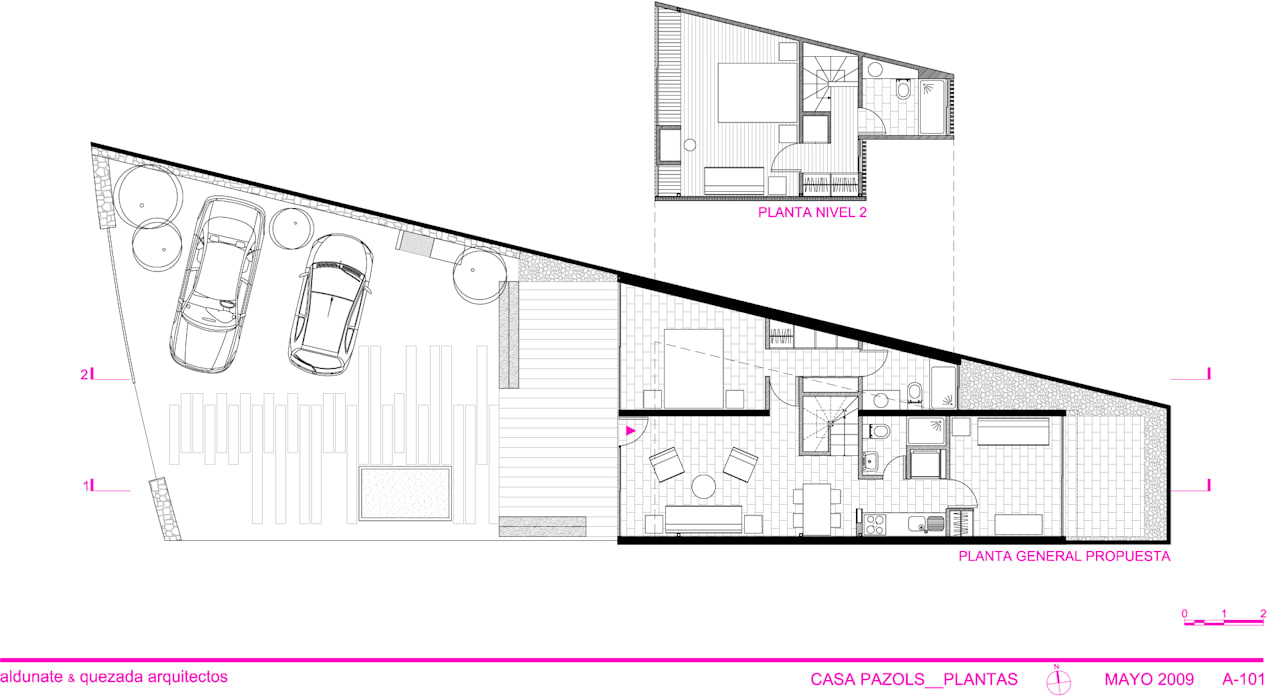 ทันสมัย  โดย m2 estudio arquitectos - Santiago, โมเดิร์น