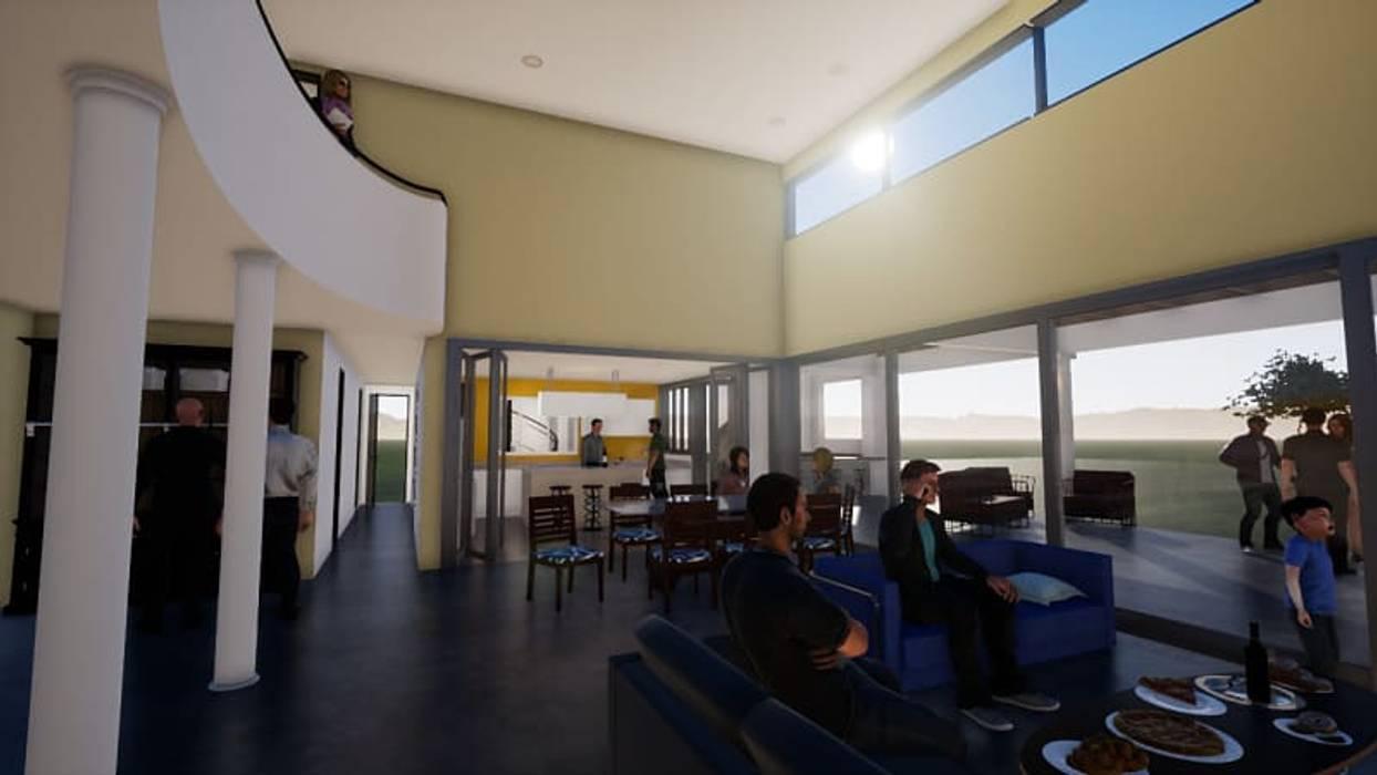 Expansión del living-comedor Livings de estilo clásico de BIM Urbano Clásico Ladrillos
