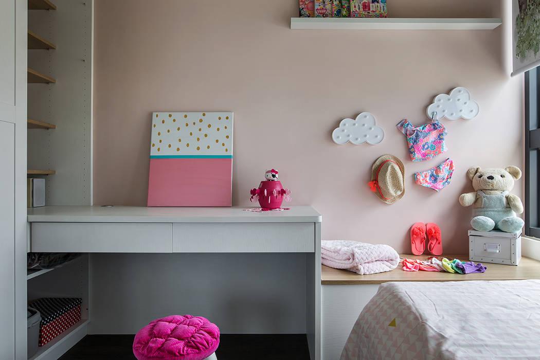 غرفة نوم بنات تنفيذ 達譽設計 , إستوائي