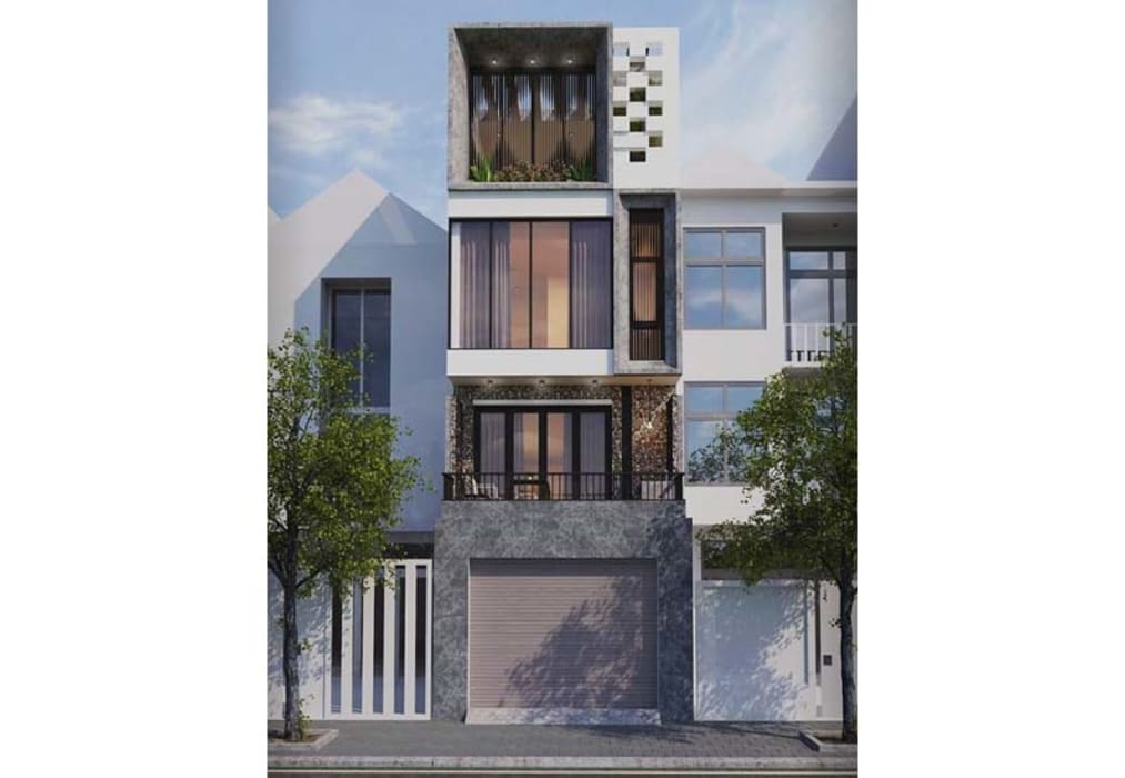 Maison individuelle de style  par Công ty Thiết Kế Xây Dựng Song Phát,