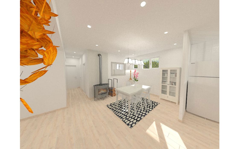 R novation d 39 une maison des ann es 70 frontonas salle manger de style par design - Renovation maison annee 70 ...