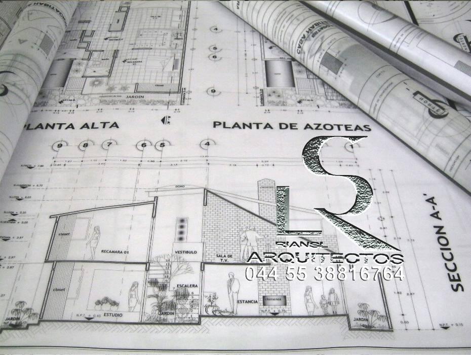 Dibujo de planos arquitect nicos de casa habitaci n for Planos arquitectonicos de casa habitacion