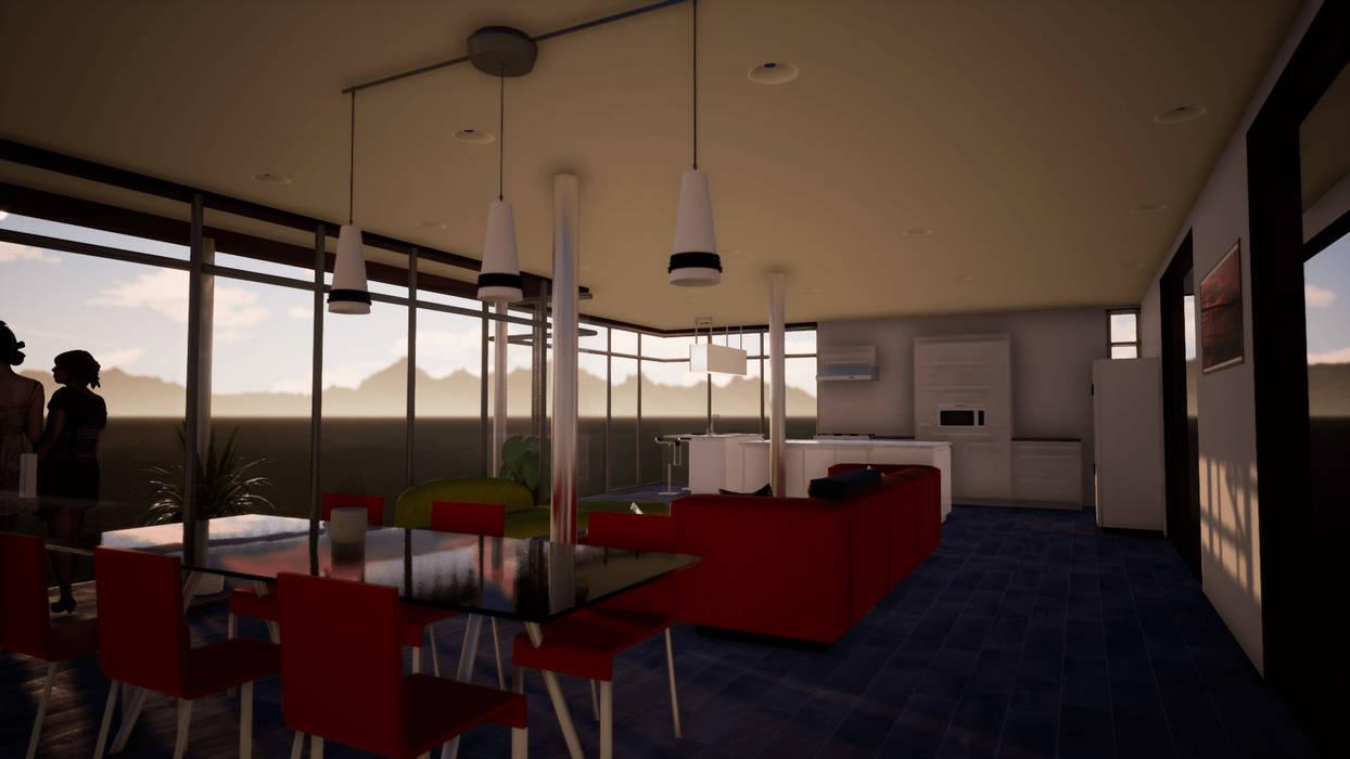 Expansión y apertura visual Livings de estilo minimalista de BIM Urbano Minimalista Piedra