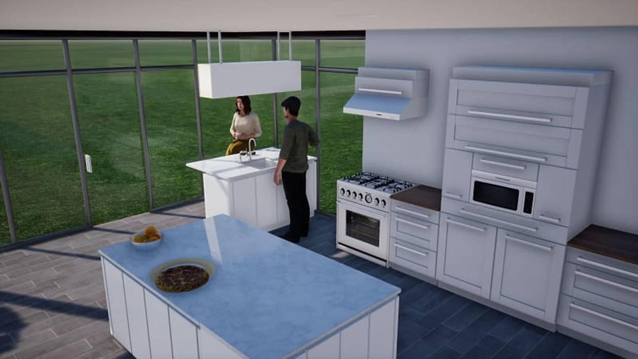 Cocina BIM Urbano Cocinas equipadas Piedra Multicolor