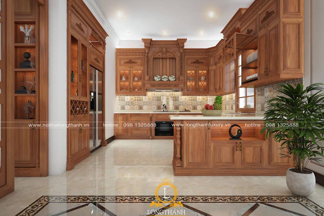 Tủ bếp tân cổ điển bởi Nội thất Long Thành Bắc Âu