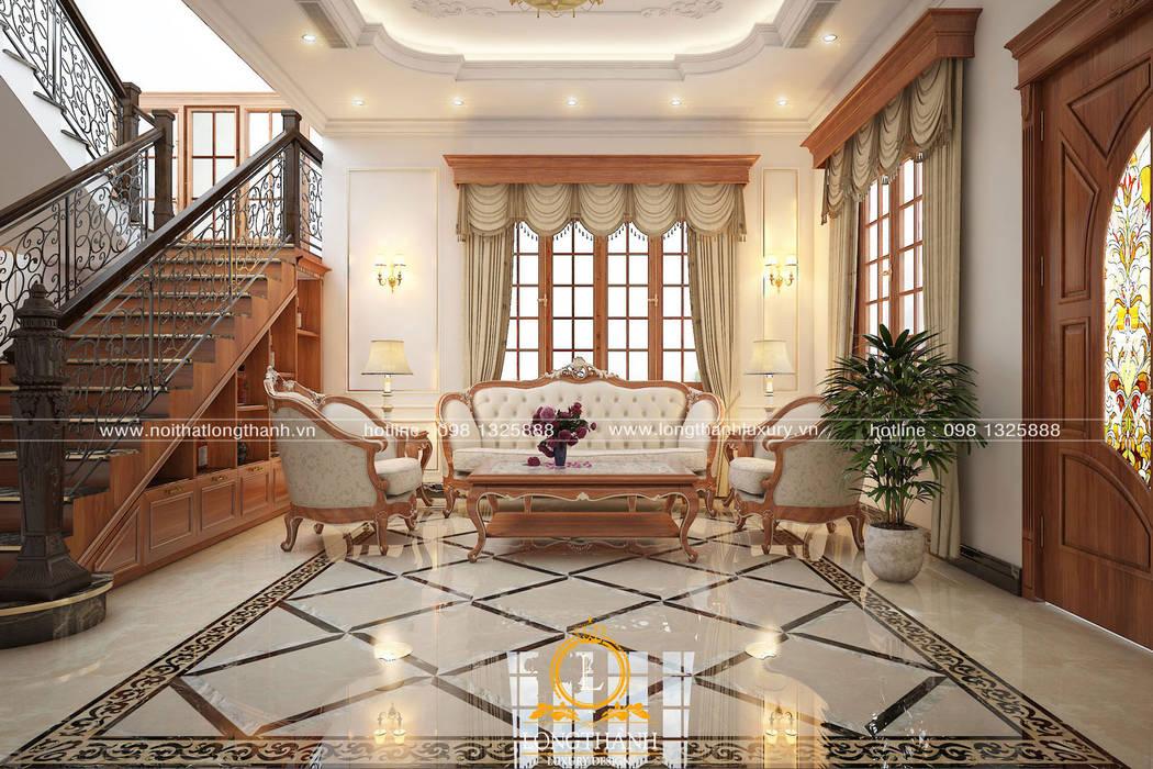 Phòng khách tân cổ điển:  Phòng khách by Nội thất Long Thành