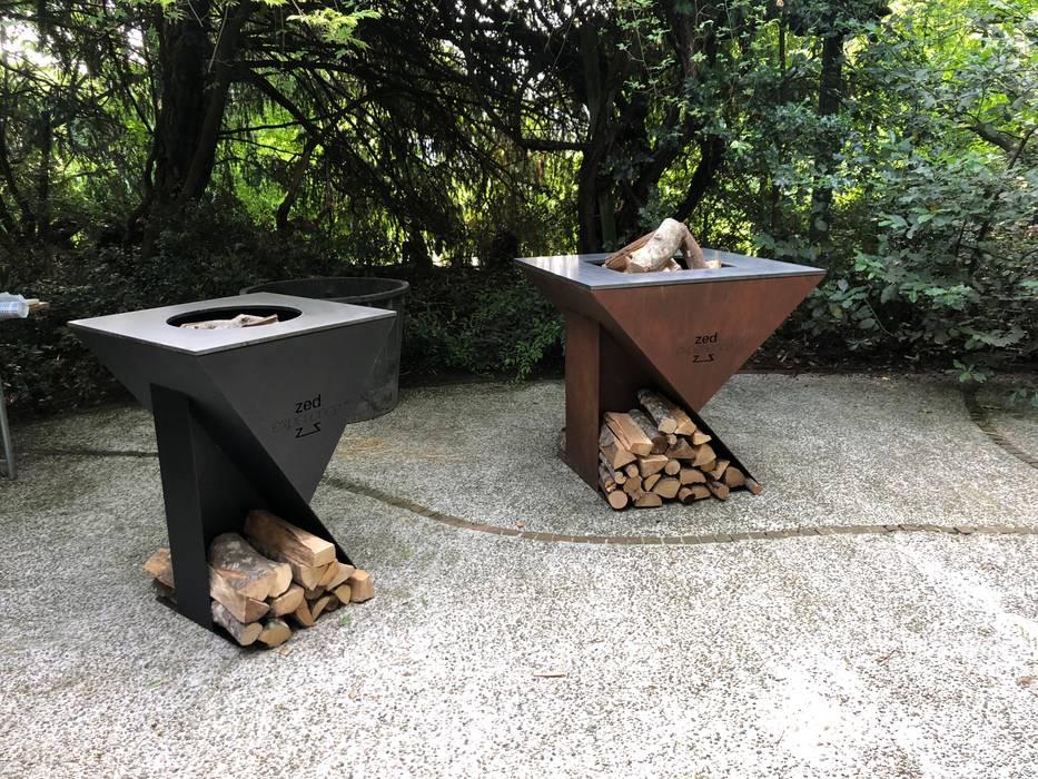Bracieri ZEDEXPERIECE di homify Moderno Ferro / Acciaio