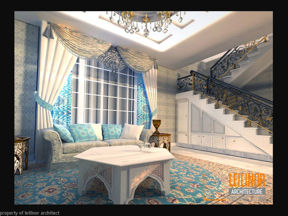 Morrocan Style Interior: Tangga oleh CV Leilinor Architect, Klasik