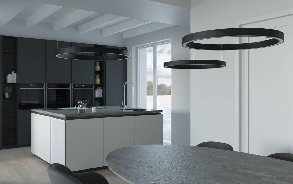 Attico - Interior design: Cucina in stile in stile Moderno di ALMA Architettura | Mario Pan | Alessandro Pezzotti