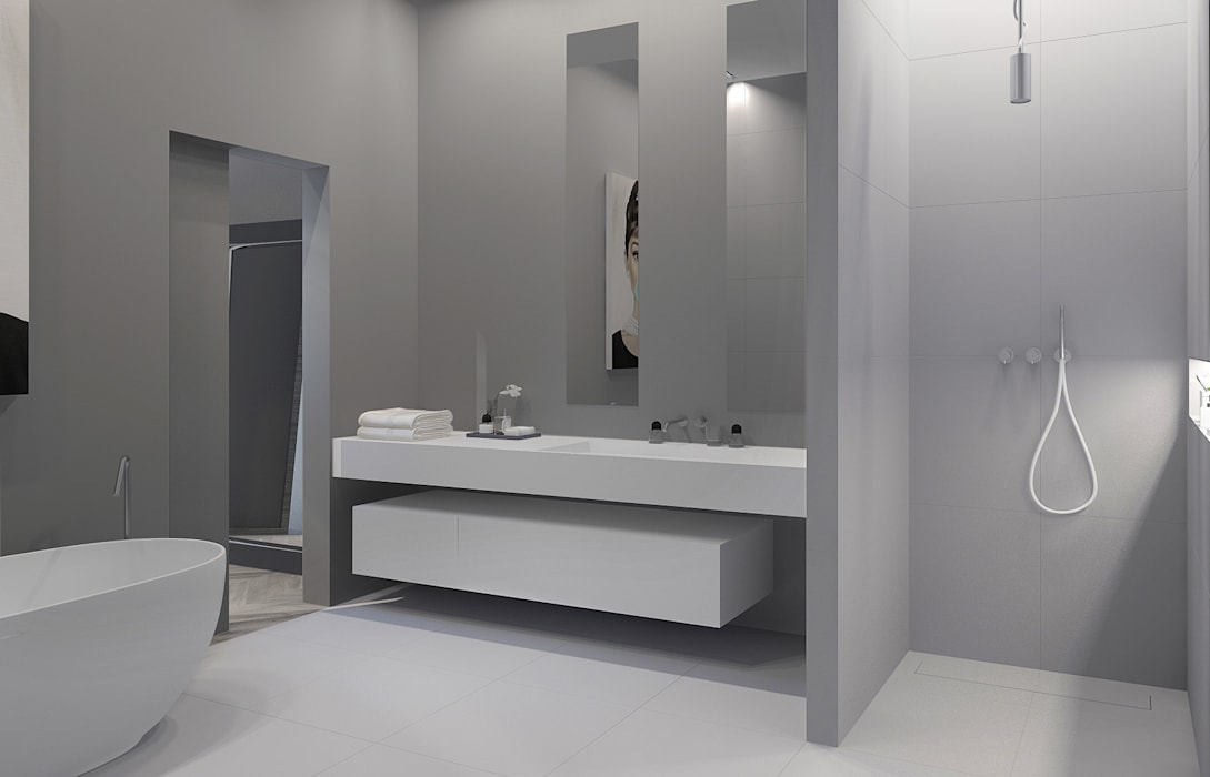 Salle de bain: Salle de bains de style  par réHome