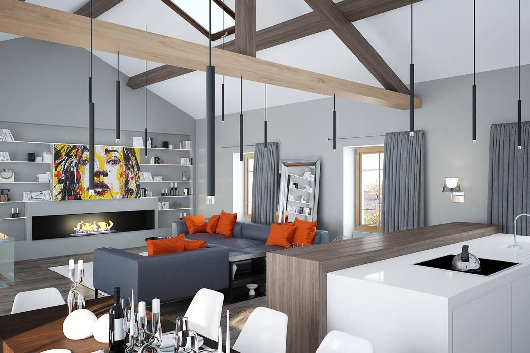 Pièce de vie : Salon de style de style Moderne par réHome