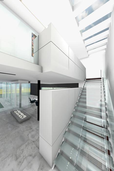Escalier en verre: Escalier de style  par réHome