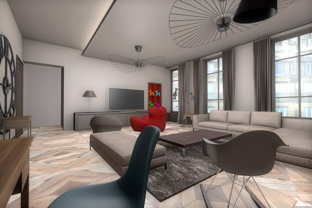 Salon: Salon de style de style Moderne par réHome