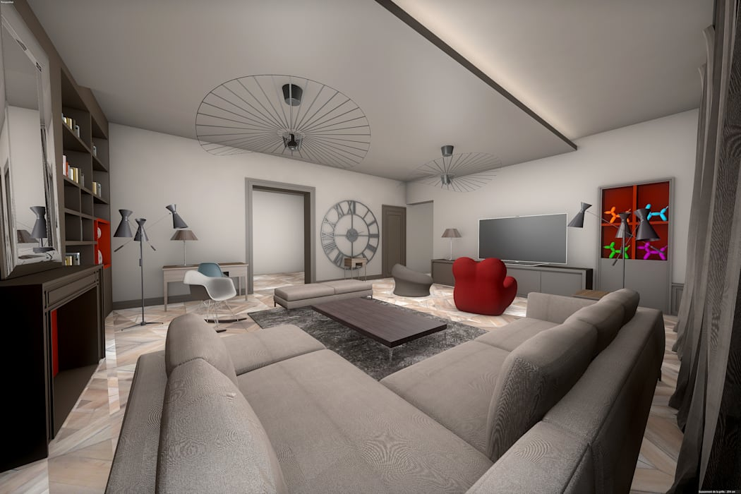 Salon 3D: Salon de style  par réHome