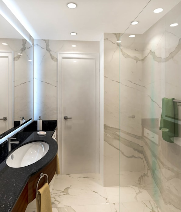 Bathroom por DMR DESIGN AND BUILD SDN. BHD.