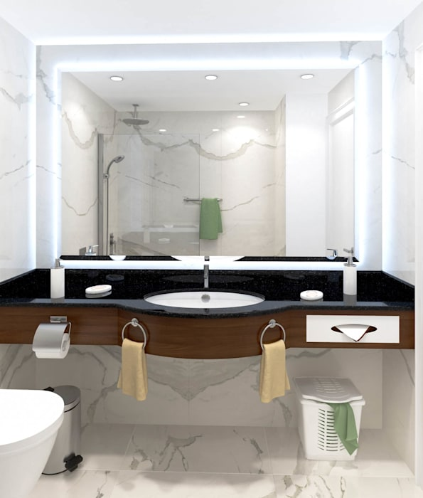 Bathroom by DMR DESIGN AND BUILD SDN. BHD.