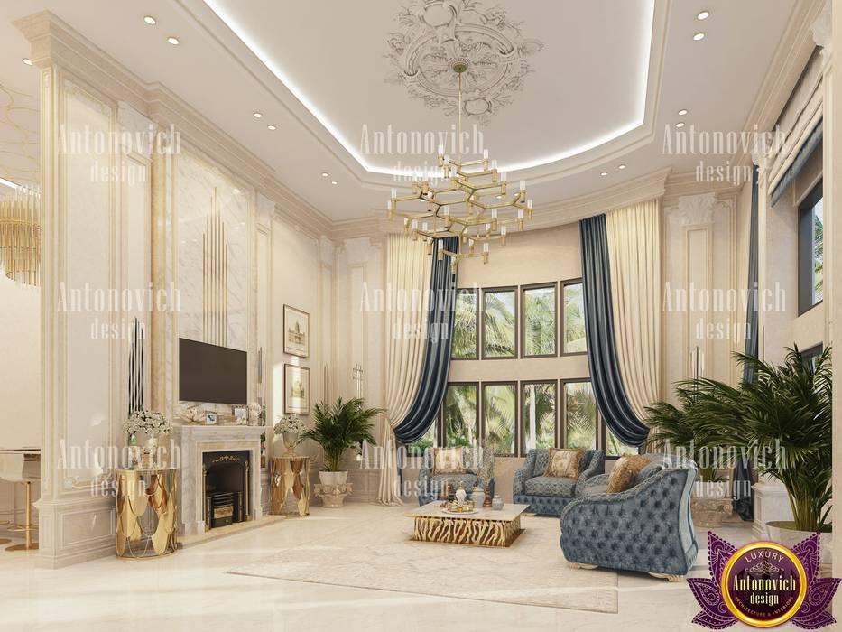 Livings de estilo clásico de Luxury Antonovich Design Clásico