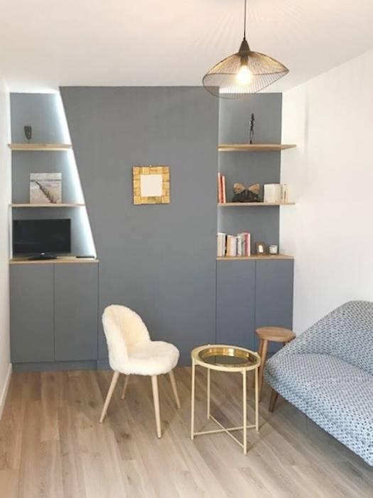 Appartamento a parigi soggiorno in stile rustico di smellof ...