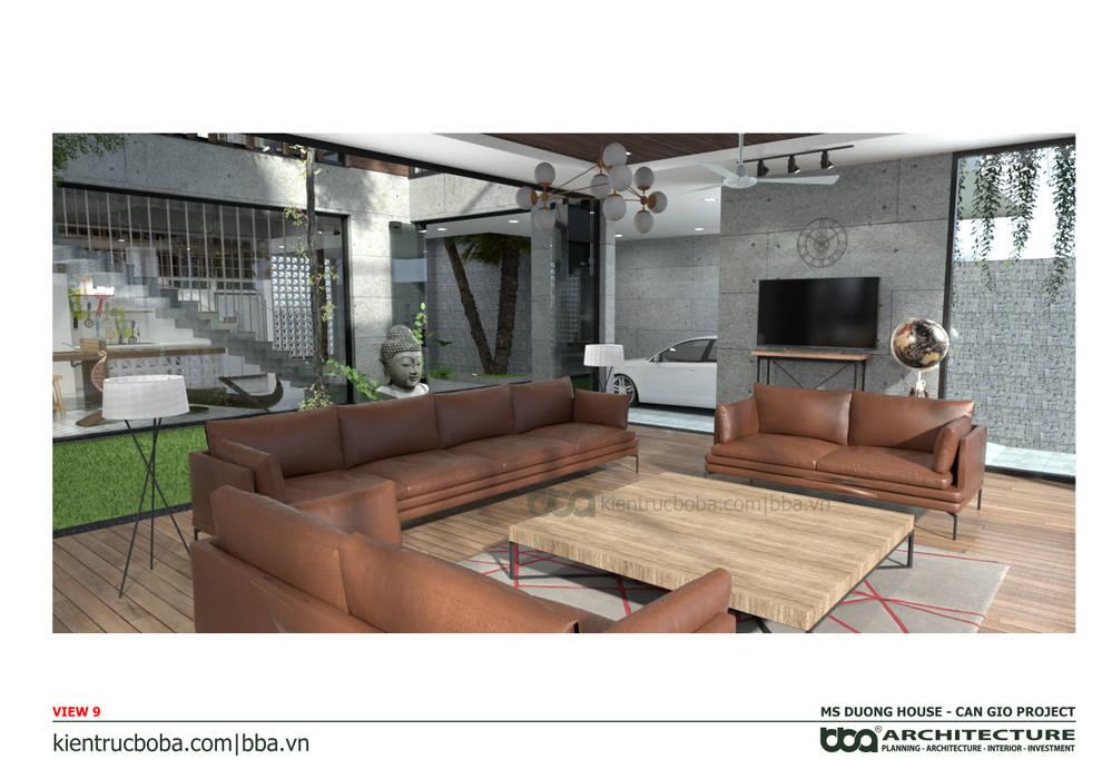 Thiết kế biệt thự Ms. Dương | Cần Giờ | Kiến trúc Bộ Ba bởi Công ty Cổ phần Thiết kế Xây dựng Bộ Ba
