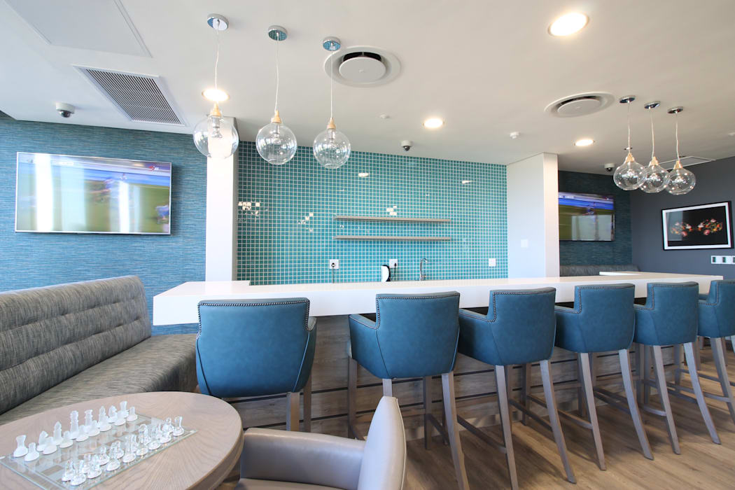 Bar Area:  Commercial Spaces by Audio Visual Projects (PTY) Ltd, Modern