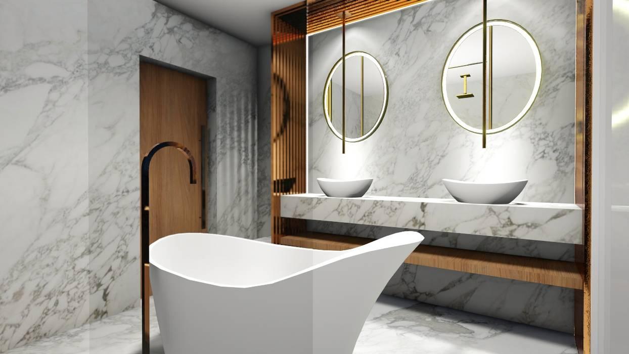 Banheiro Clean Contemporâneo: Banheiros  por Studio²