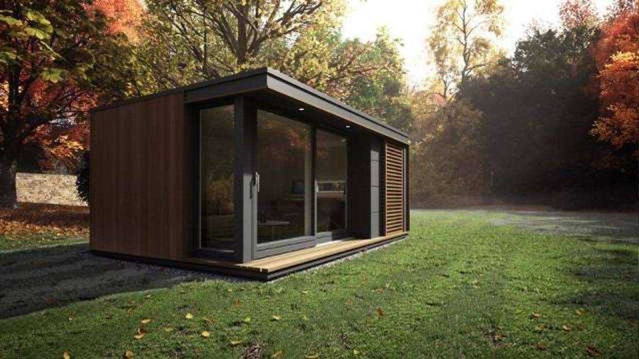 Casas ecológicas de estilo  por Construcciones F. Rivaz, Minimalista Contrachapado