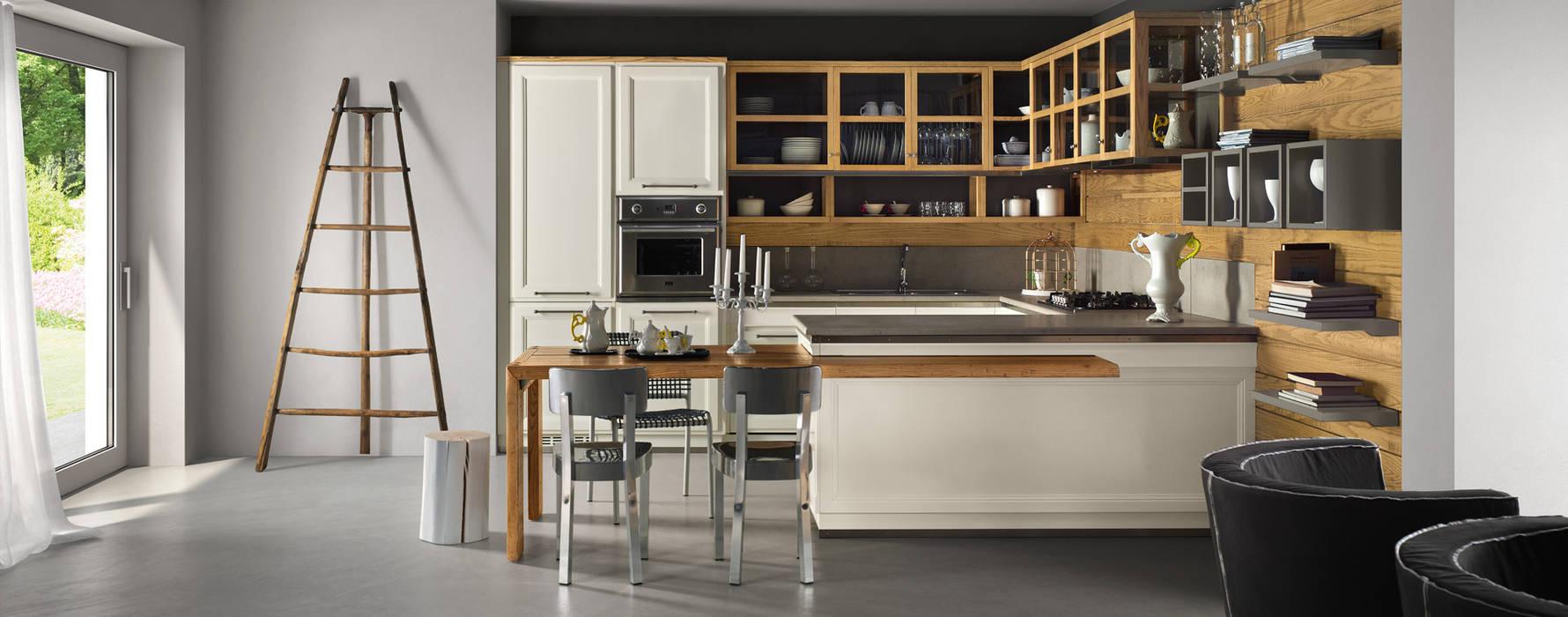 L\'ottocento-living design: cucina attrezzata in stile di room 66 ...