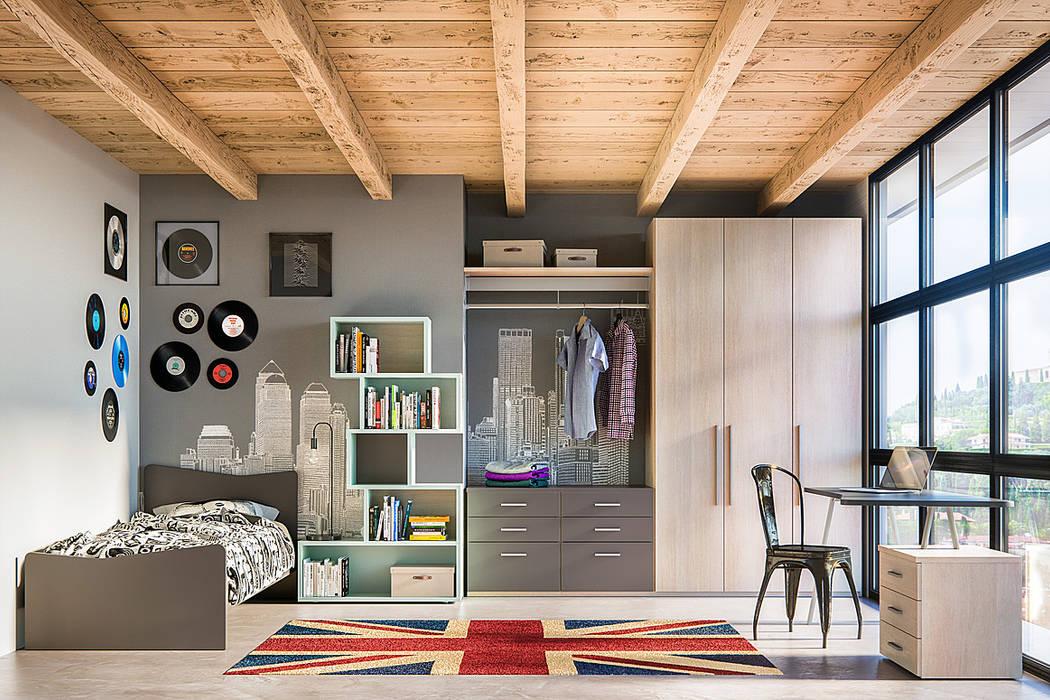 Camerette da sogno: camera da letto in stile di room 66 ...