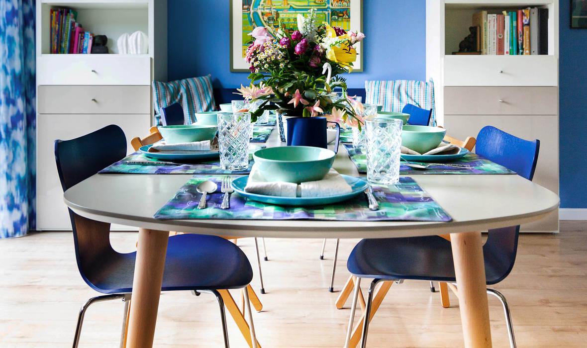 Eethoek, verlengde tafel:  Eetkamer door Regina Dijkstra Design