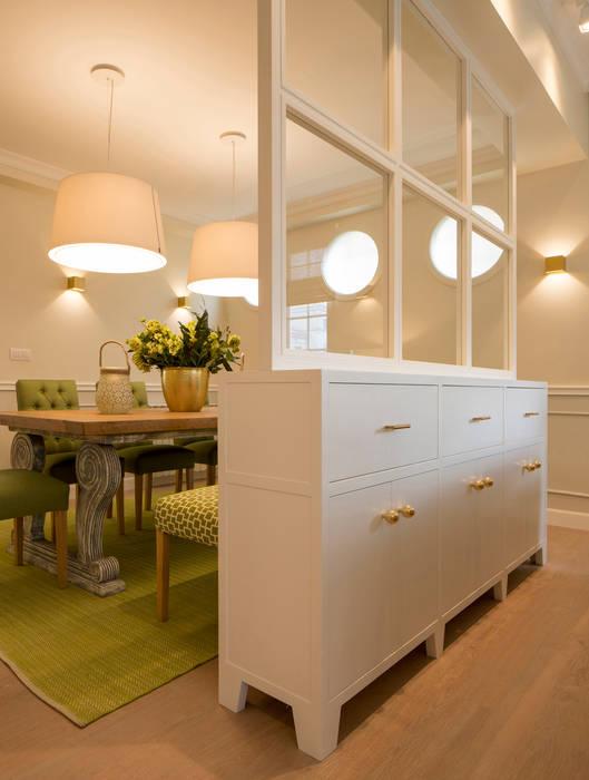 Diseño de mueble separador de salón y comedor con cajones y ...