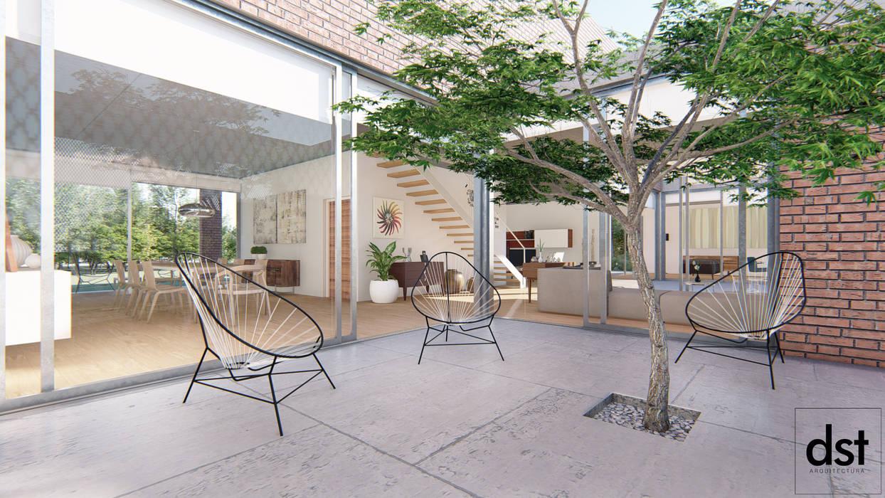 Casa Guevara: Jardines de invierno de estilo  por DST arquitectura,Minimalista