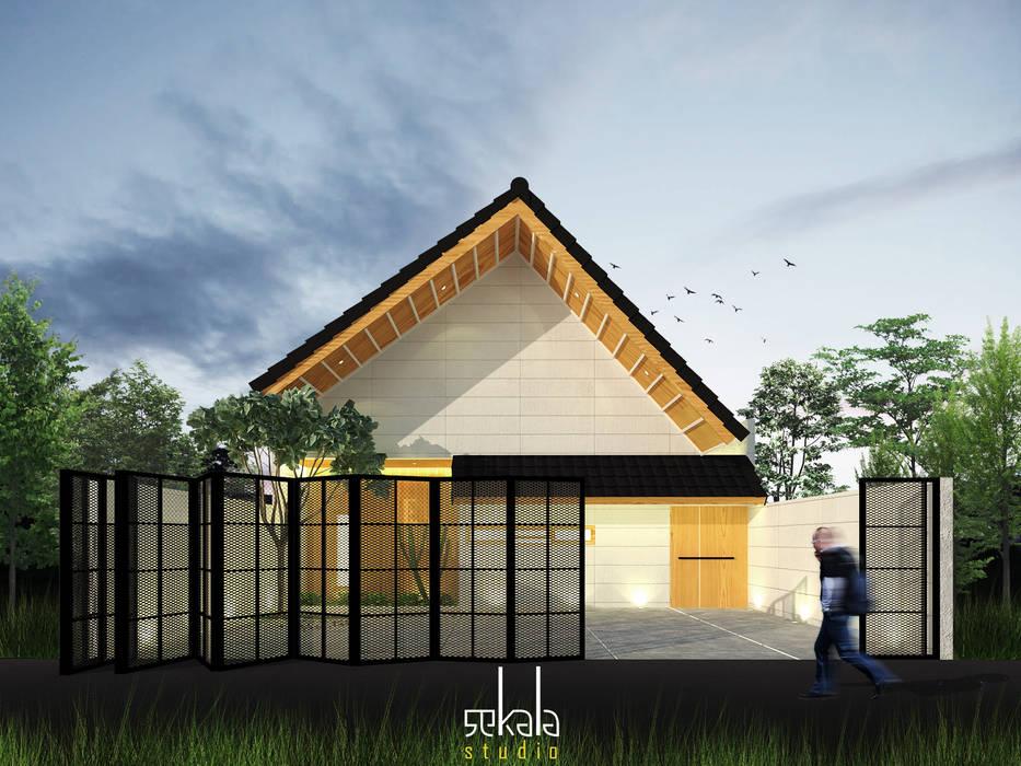 Rumah Ibu Siska Oleh SEKALA Studio Modern Batu Bata