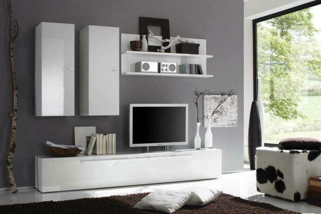 Modern tv cabinet wall unit- living room: modern by ...